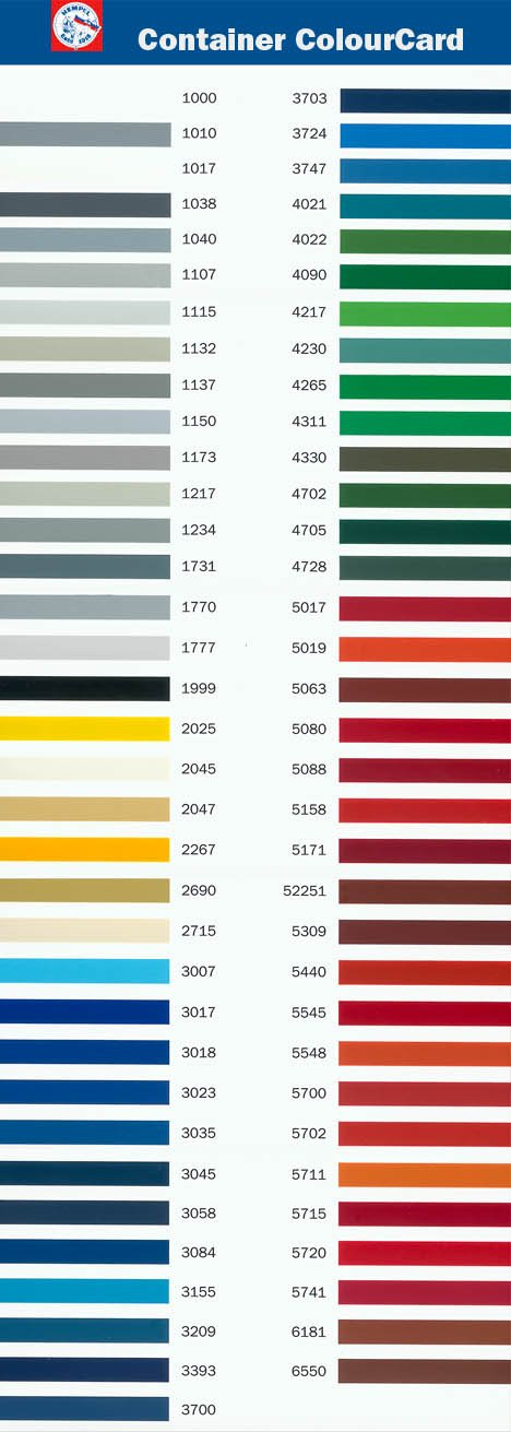 HEMPEL-marine-paint-colour-chart