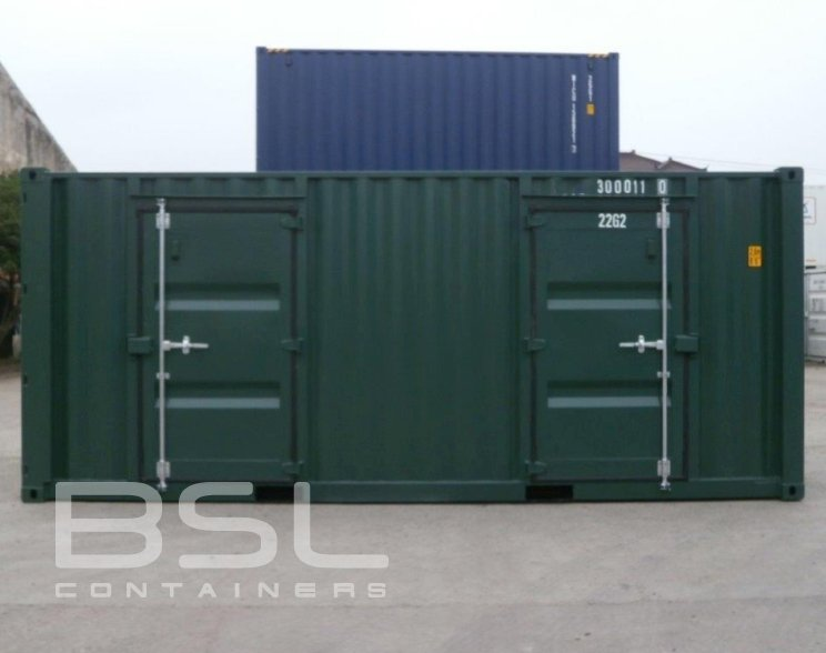 20u2032 storage containers for sale u2013 2 man doors slide background slide background - Storage Containers For Sale