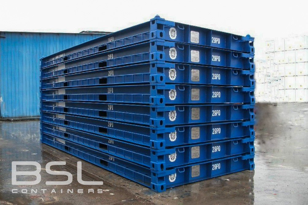 20 Platform Containers For Sale No Sides Ends Or Roof