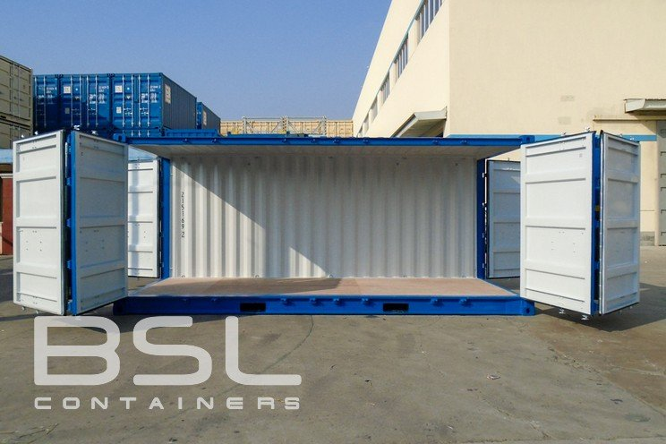 20 Open Side Shipping Containers For Sale With Door On