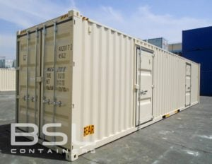 40' High Cube Container with 2 Man Doors