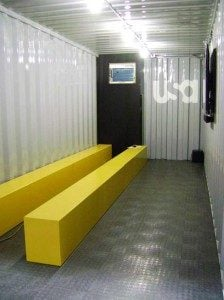 Shipping containers become mobile mini theaters