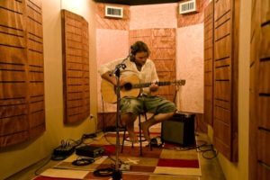 Container recording studio by John Sayers Productions