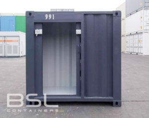 4' Container with Sliding Door