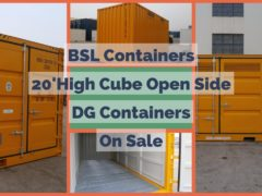 20ft High Cube Open Side DG Containers on sale now!
