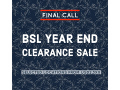 BSL YEAR END CLEARANCE SALE