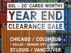 20ft Cargo Worthy Year End Clearance Sale